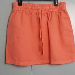J.Crew Orange mini skirt size 10 -Y5